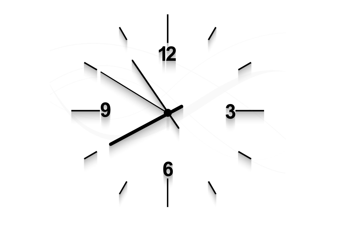 Clock Faced On White Background Download Free Vector Art
