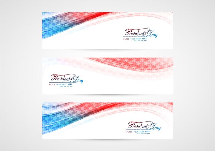 Set Of Presidents Day Banners
