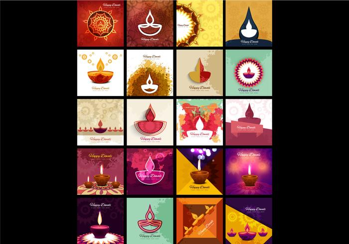 Collection Of Diwali Lamp