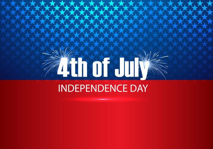 4. von Juli-Text auf amerikanischer Flagge