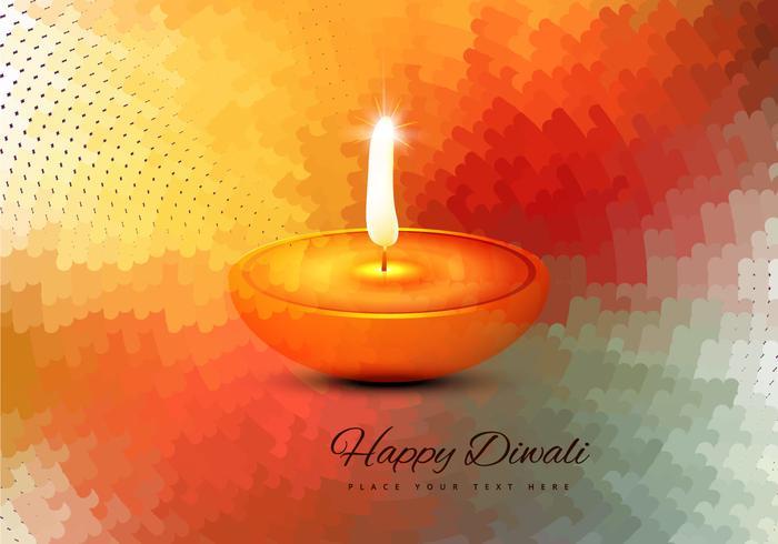 Religiösa Happy Diwali Vector Card