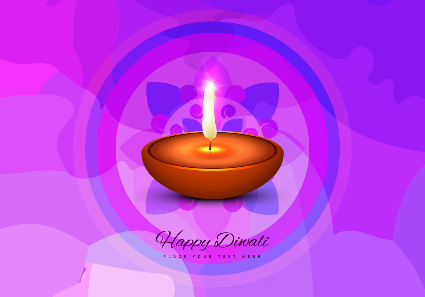 Happy Diwali Greeting Card Download Free Vector Art Stock