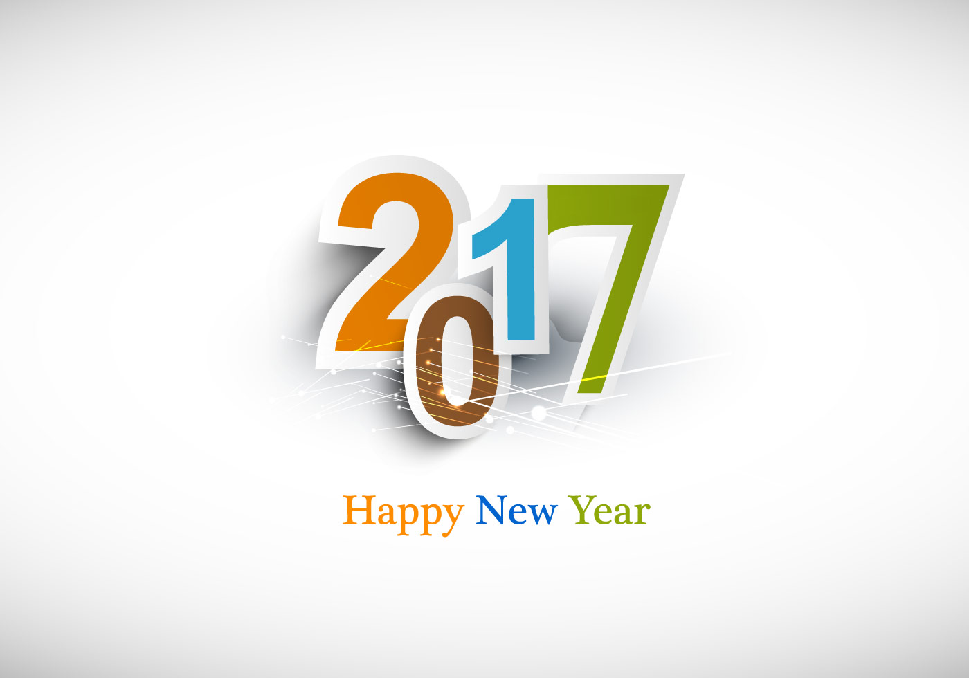Happy New Year 2017 Text Design - Download Free Vector Art ...