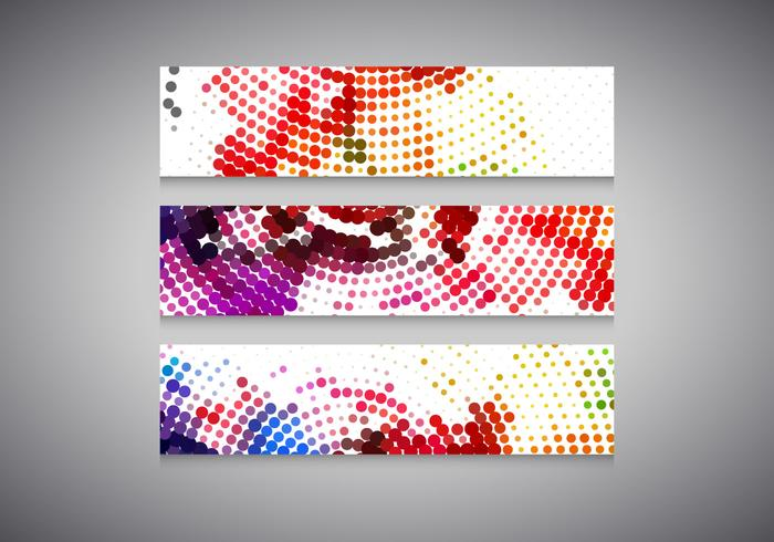 Colorful Halftone Headers