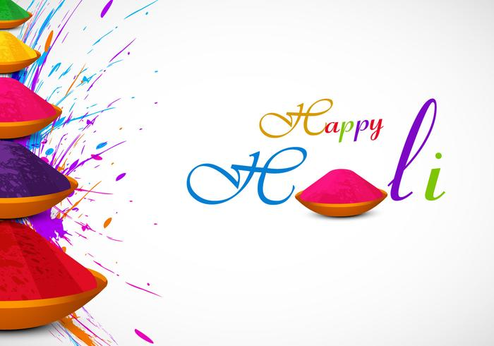 Holi Card With Powder Color