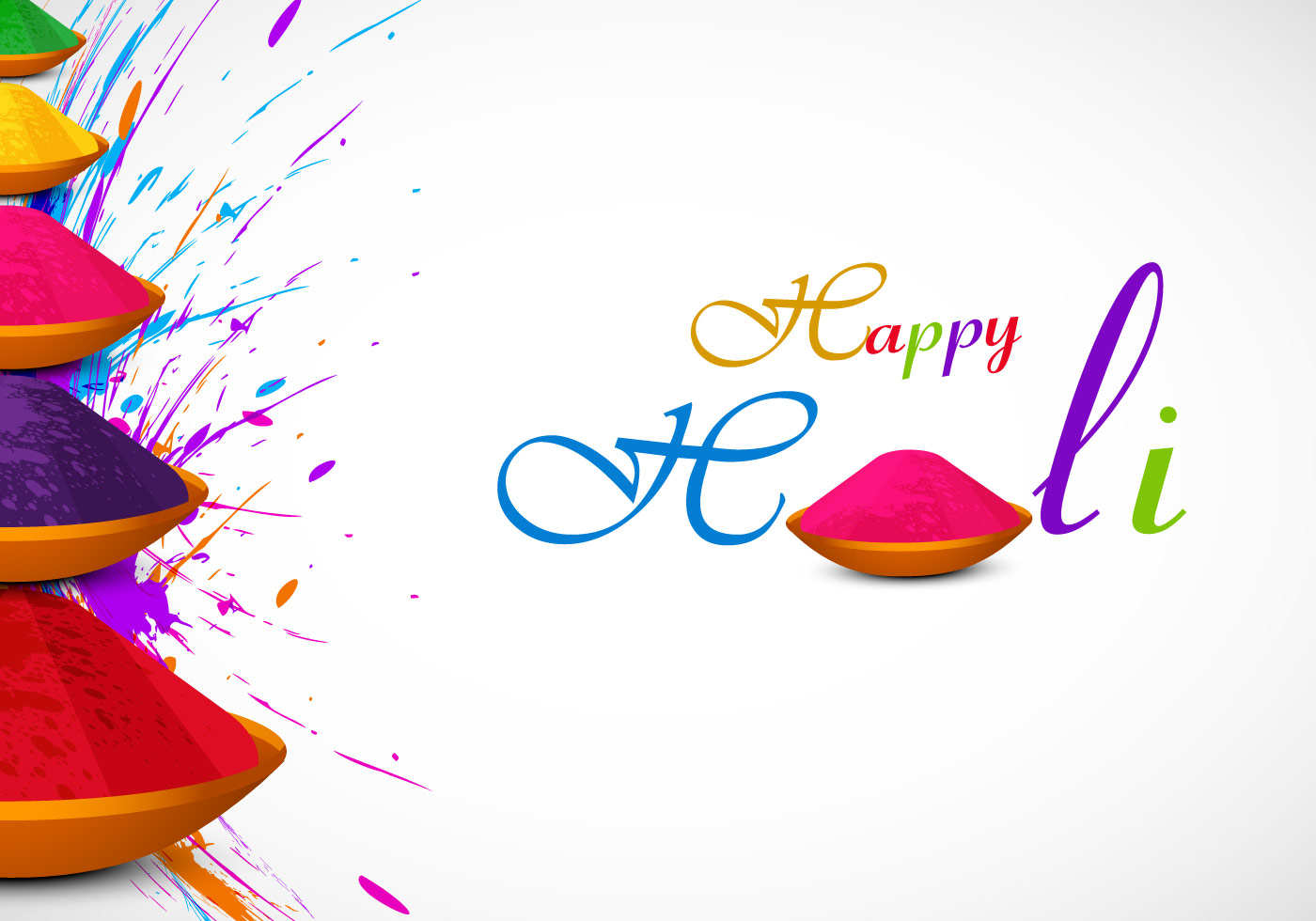 holi card with powder color  download free vector art