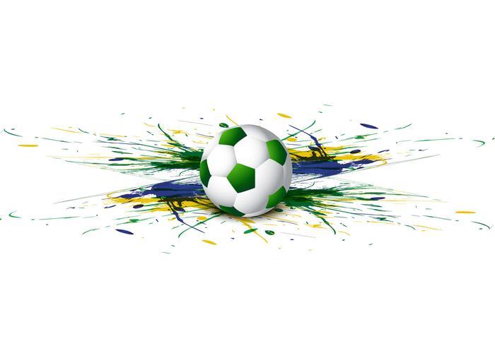 Football avec aquarelle colorée