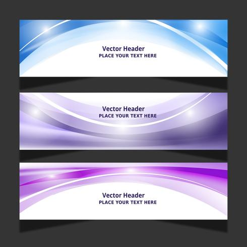 Collection Of Abstract Wave Banner