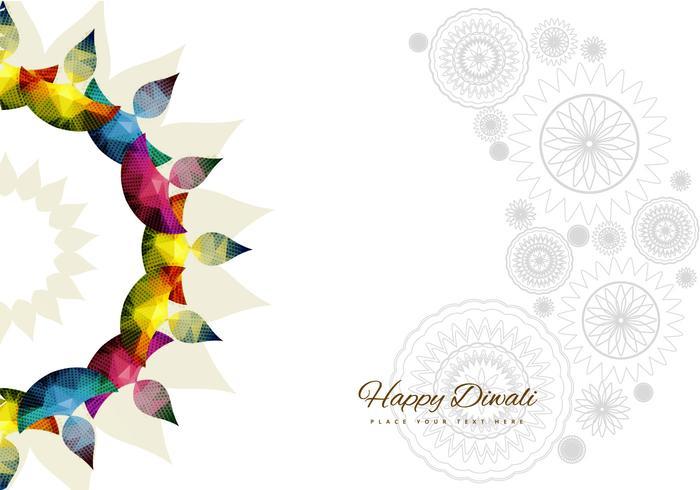 Rangoli With Bright Colorful Diyas