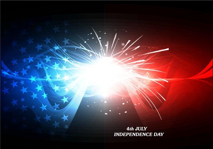 4th July Independence Day Card With Firework