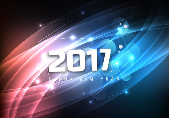 Glowing Happy New Year 2017