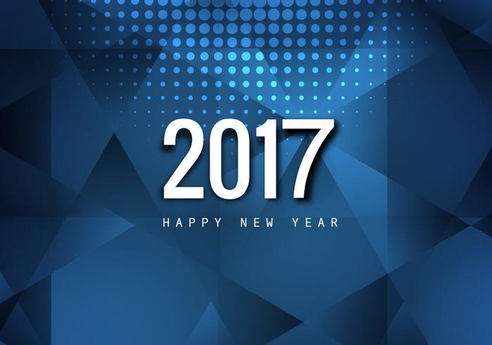 Stylish Happy New Year 2017Card