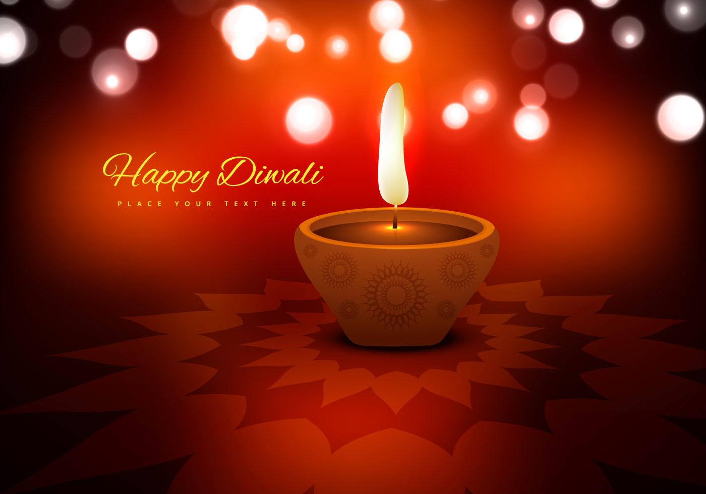 Diwali Festival With Beautiful Oil Lamp Download Free