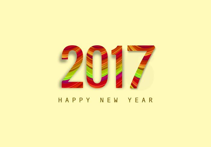 Stylish New Year 2017 Card