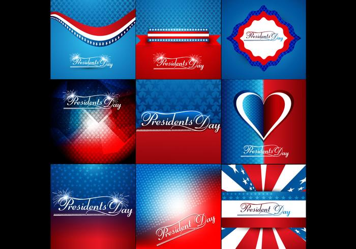 Set Of Colorful Banner For President Day