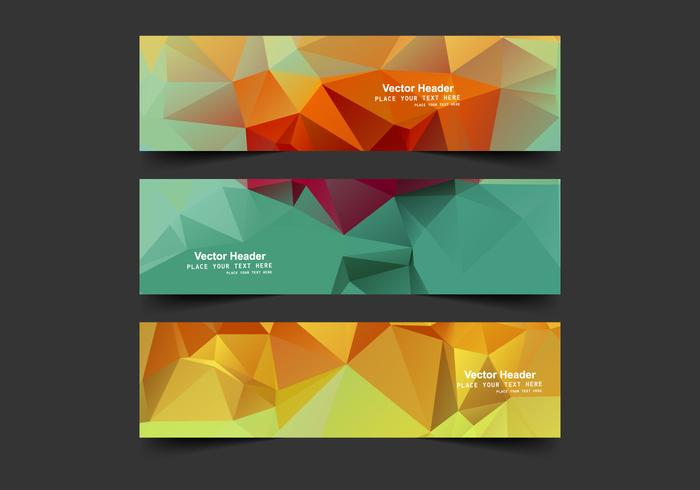 Header With Colorful Polygons