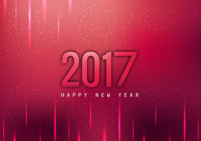 glowing 2017 happy new year card