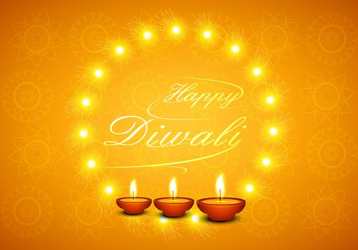 Diwali free vector art 905 free downloads happy diwali greeting card with glowing diyas m4hsunfo