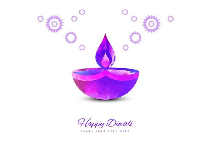 Purple Diya On White Background