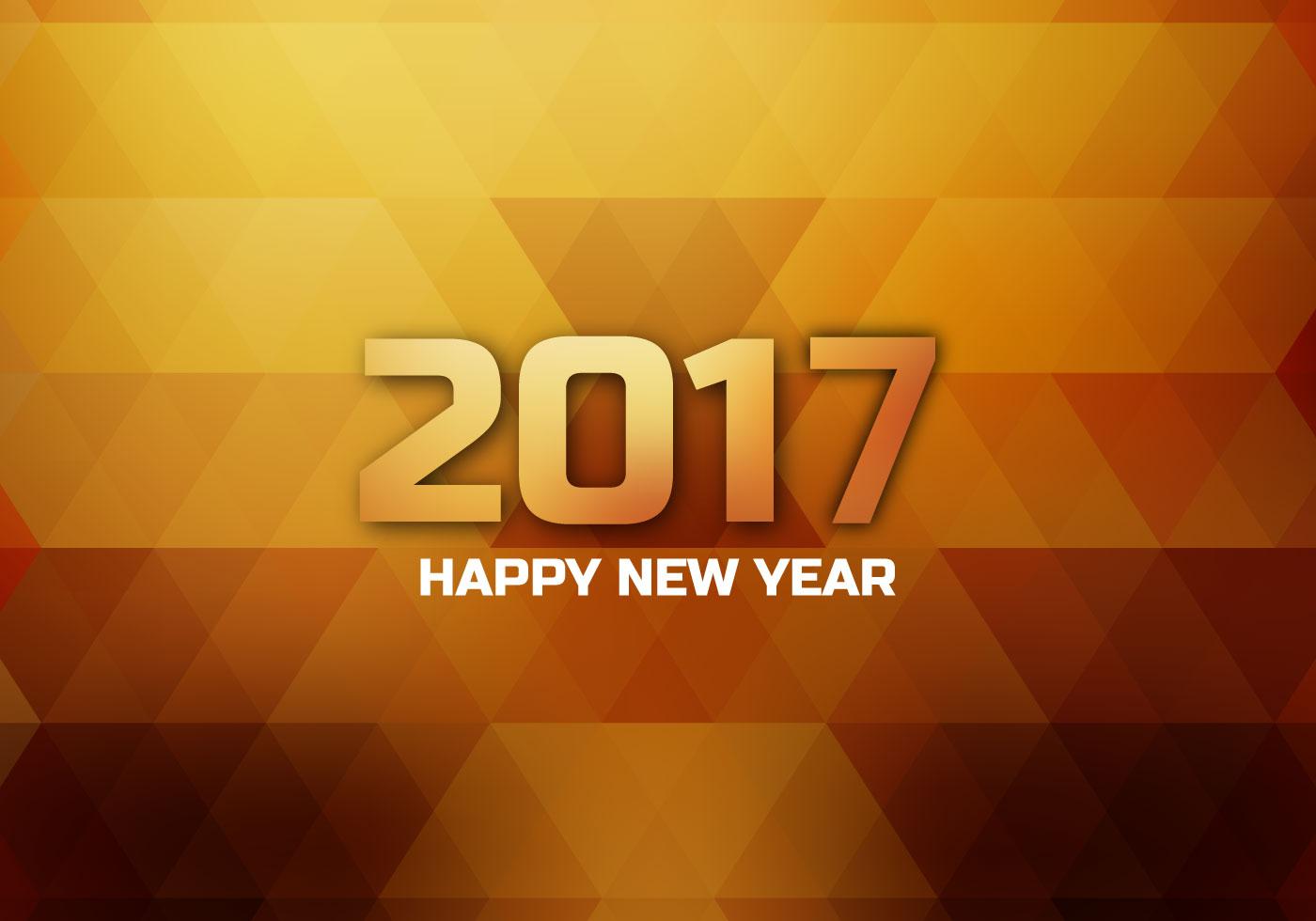 Glänzende 2017 Happy New Year Card Kostenlose Vektor Kunst Archiv