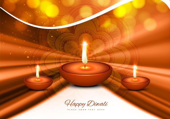 Stylish Greeting Card For Diwali Festival