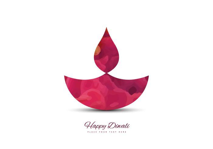 Bunte Diya für Diwali Festival