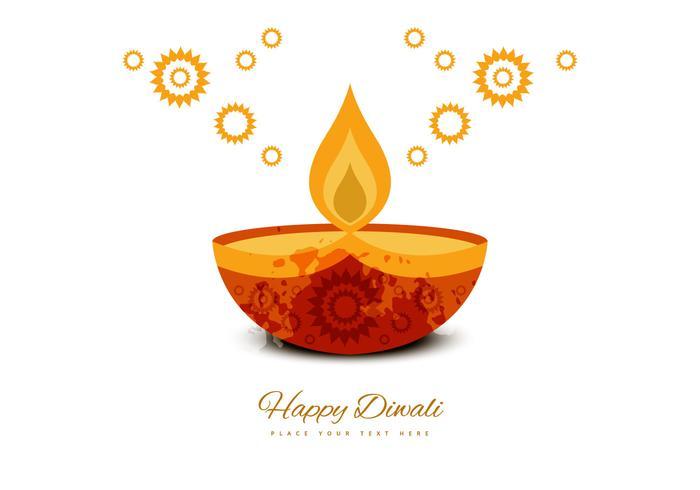 Deepawali Decorative Greeting Card