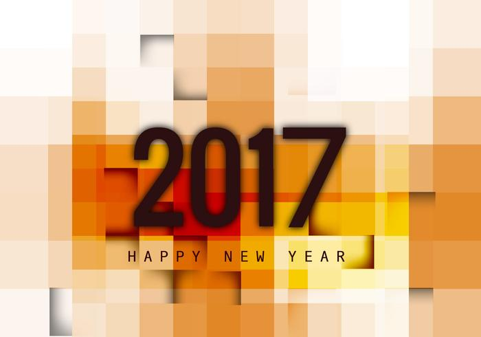 Greeting Card Of Happy New Year 2017