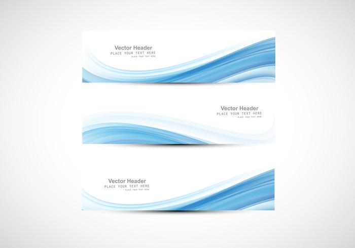 Abstract Header With Design Of Blue Wave