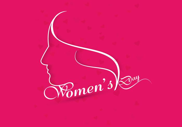 Happy Women's Day On Pink Background