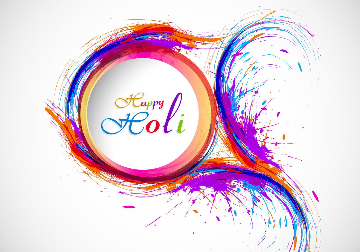 Splash Of Holi Color On Card Download Free Vector Art
