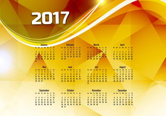 Calendrier de l'année 2017
