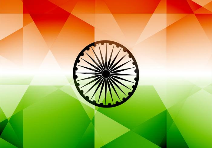 Indische Vlag Met Polygon Vorm