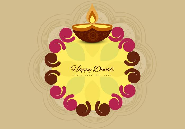 Diwali Rangoli With Oil Lit Lamp