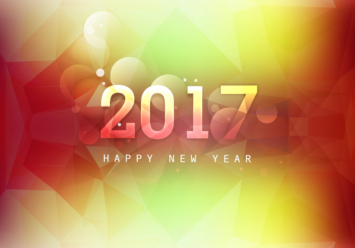 Glowing Happy New Year 2017