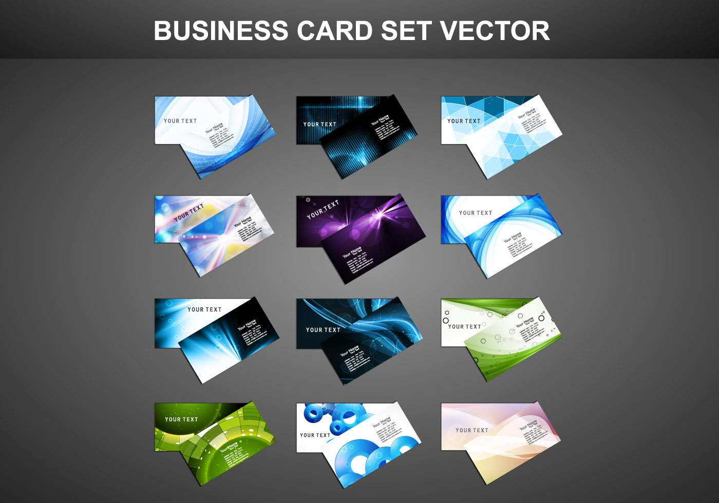 business card on gray background