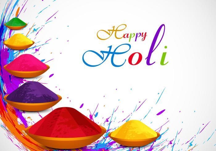 Poudre de Holi colorée