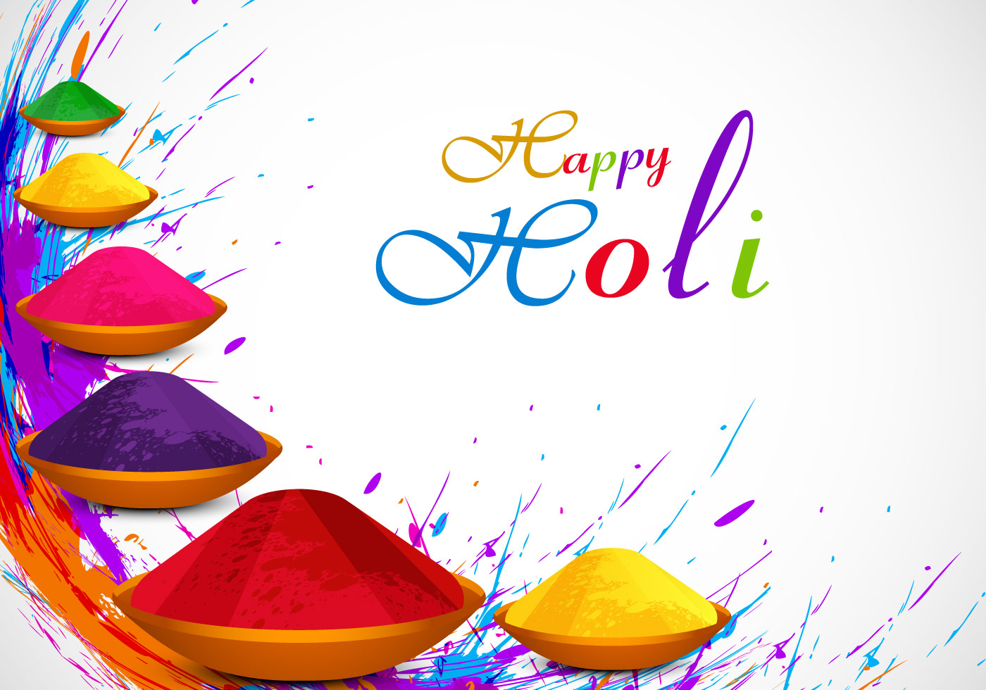 Colorful Holi Powder Download Free Vector Art Stock