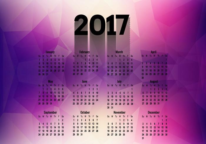 Polygonal Calendar Of Year 2017