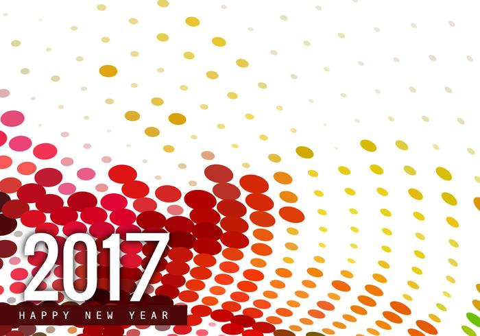 Halftone Happy New Year 2017 Card