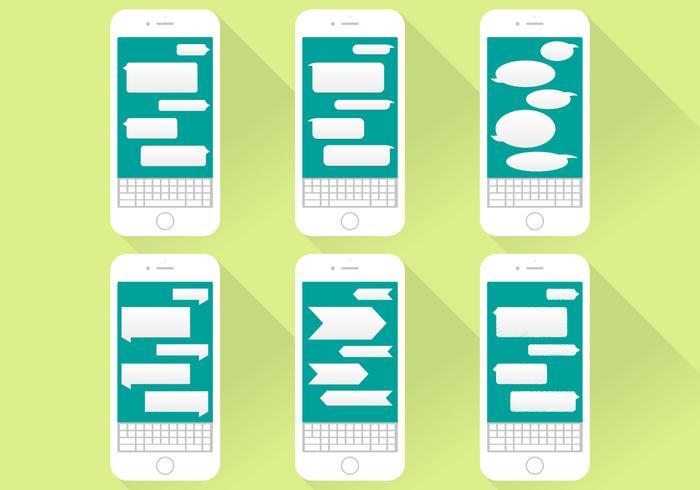 Imessage Conversation Icons Iphone Flat Illustration