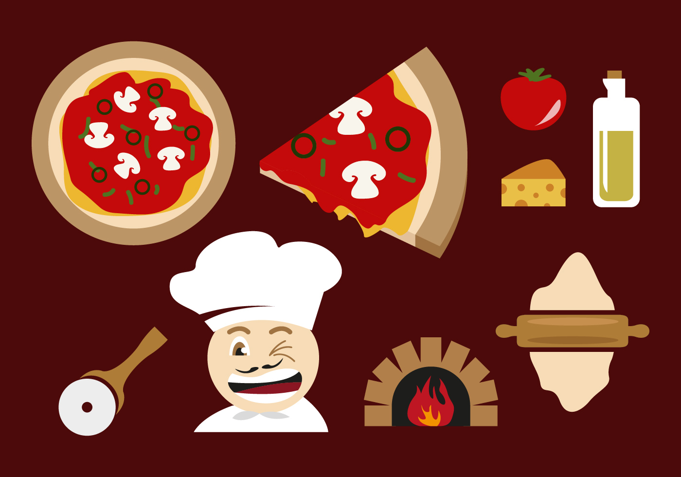 Pizza Oven Illustrations Vector - Download Free Vector Art ...