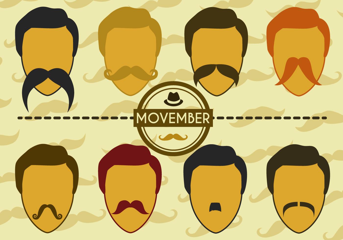 Free Movember Vector Download Free Vector Art Stock