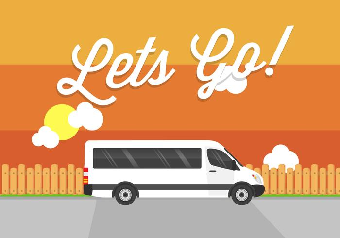 ¡Vamonos! Minibus Vector