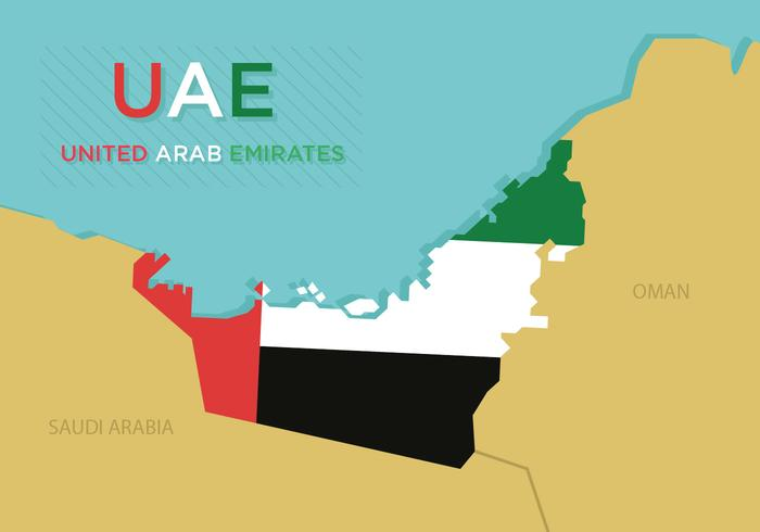 UAE Map Vector Download Free Vector Art Stock Graphics Images - Uae map