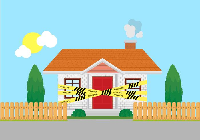Home Crime Scene Police Line Vector