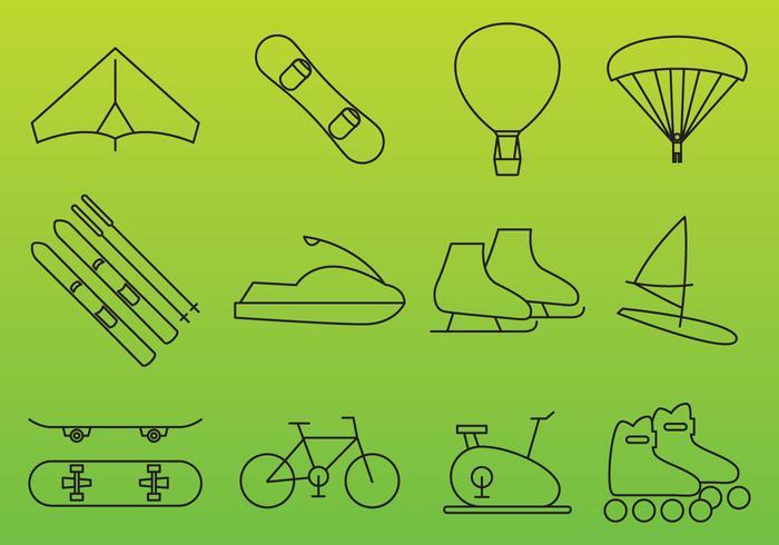 Iconos de vector de recreación