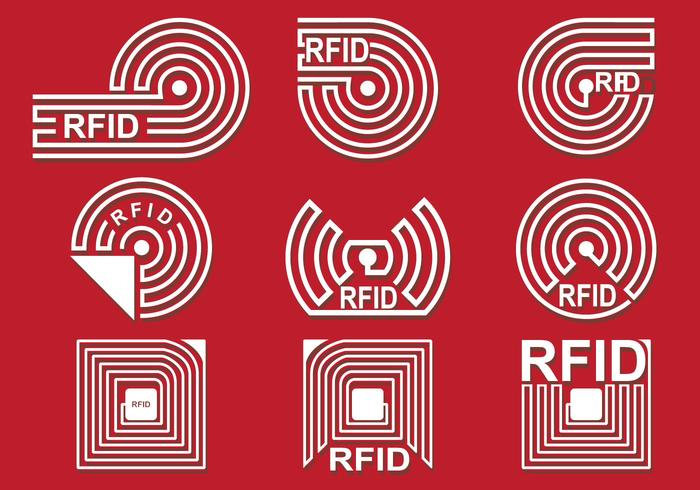 RFID Vector Icon Set