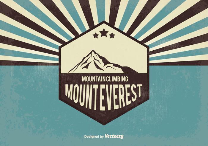 Retro Everest Vector Illustration