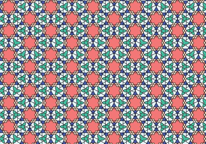 Geometric Moroccan Pattern Bakcground vector